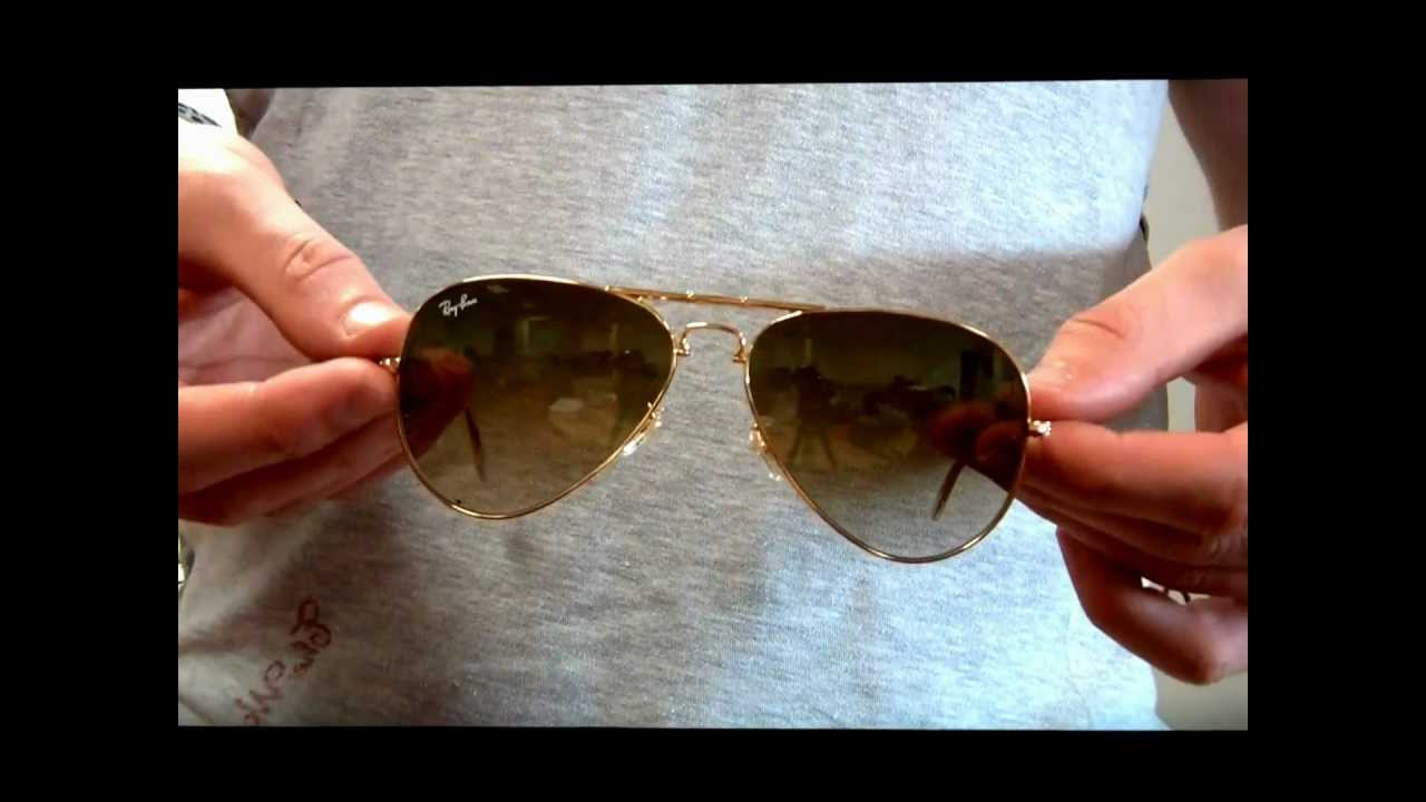 d6c182149f9 Ray Ban Folding Aviator Sunglasses Review - RB3479 001-51 - YouTube