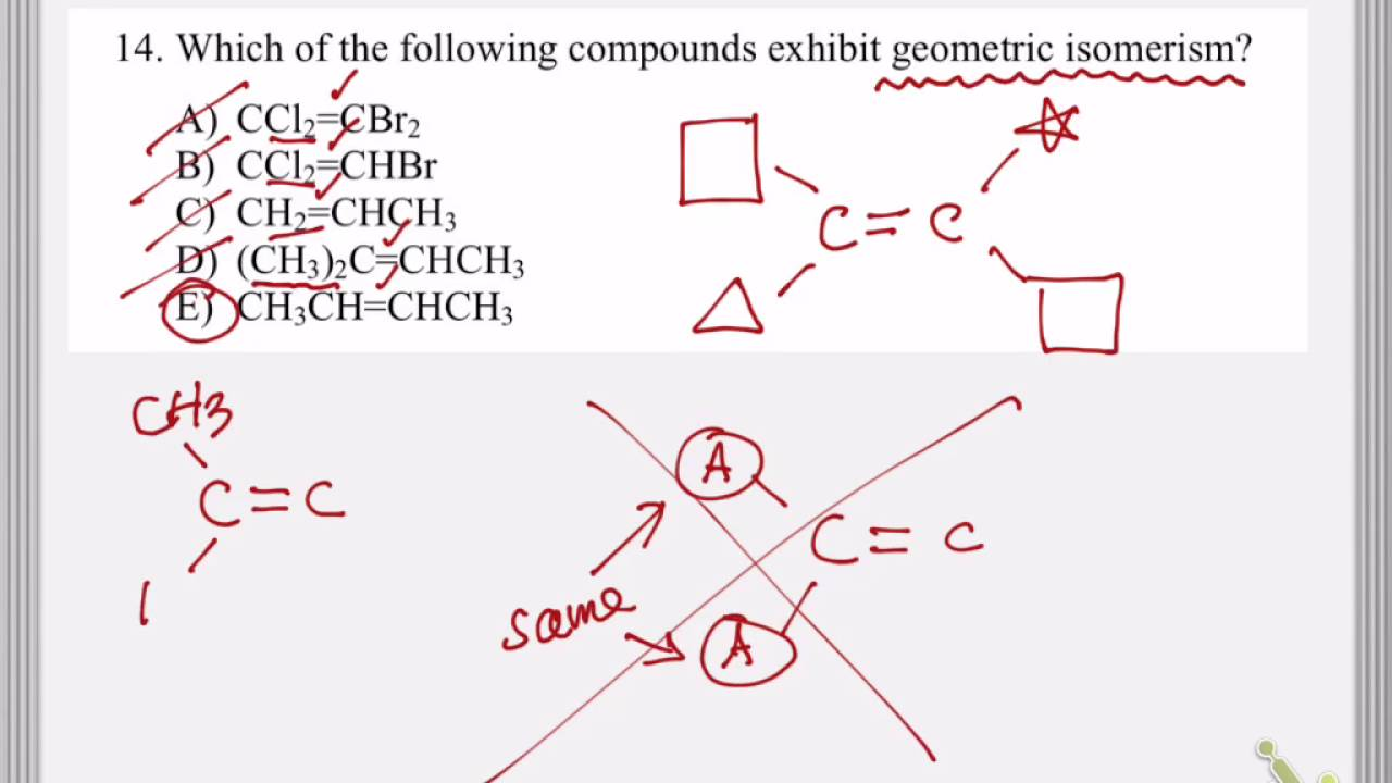 What is a geometric isomer 94