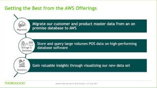 Aws is the leading cloud platform and a great option for delivery of agile, scalable cost-effective bi analytics solutions platforms. in this...