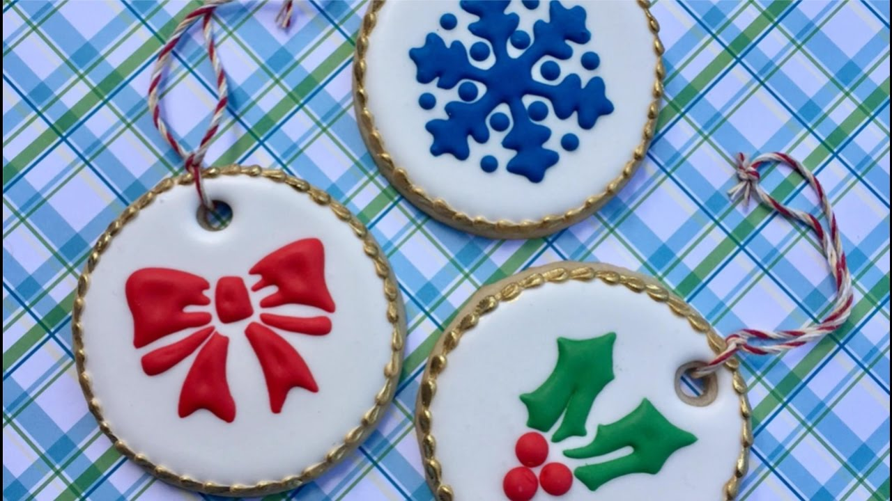 Stencil Ornament Cookies