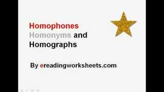 Homophones, Homonyms, and Homographs | Common Core Reading Instruction Video