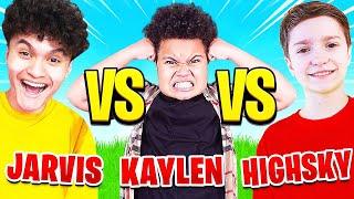 FaZe Jarvis Vs FaZe H1ghSky1 Vs Kaylen (YOUNGEST KIDS 1V1)