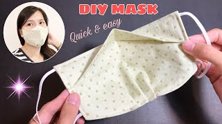 New design NO FOG ON GLASSES Very quick easy 3D face mask sewing tutorial DIY Breathable mask