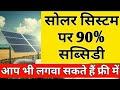 Subsidy for solar pumping system