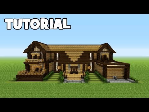 Minecraft Tutorial: How To Make A Wooden Mansion