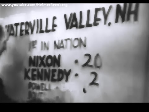 November 8, 1960 - Waterville, New Hampshire first to vote in US Elections: Nixon 20 - Kennedy 2
