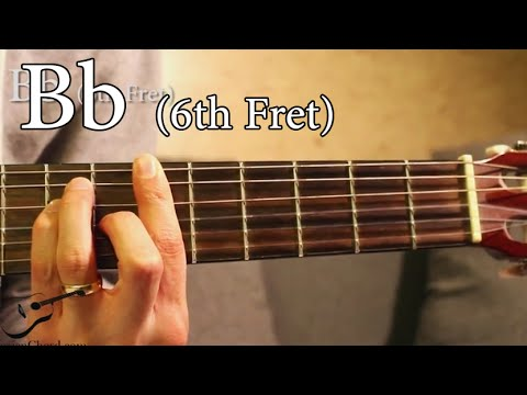 Bb chord on guitar 6th fret youtube for Www bb
