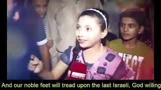 SubhanAllah    Powerful Message by Palestinian Brave Girl