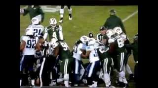 Geno smith gets punched in the face Jets titans fight/brawl 12-14-14