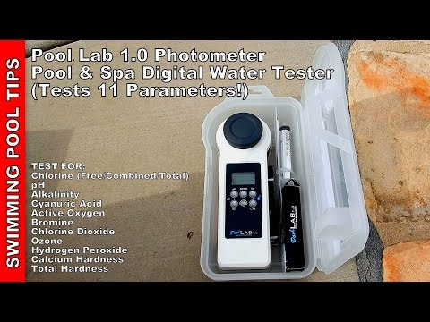 Pool Lab 1.0 Photometer Pool & Spa Digital Water Tester (Tests 11 Parameters)