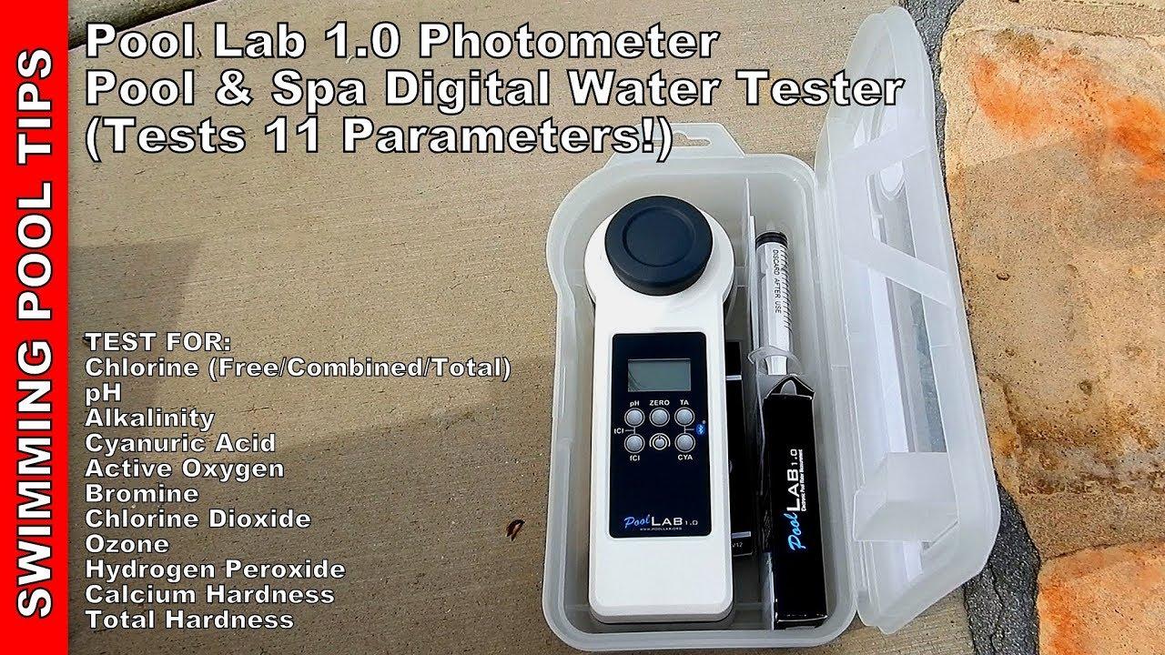 Pool Lab 1 0 Photometer Pool Spa Digital Water Tester Tests 11 Parameters Youtube