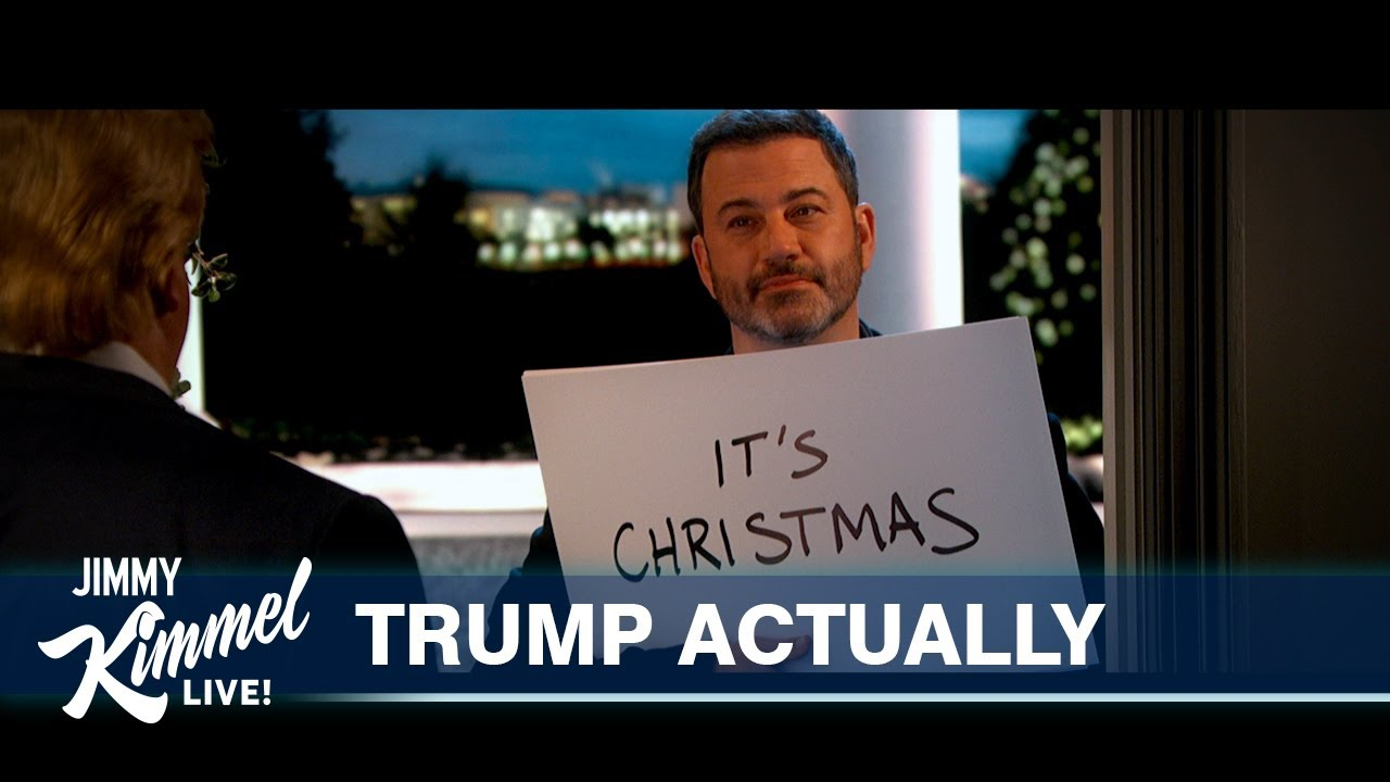 Jimmy Kimmel & Donald Trump Reenact Love Actually