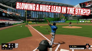 BLOWING A HUGE LEAD IN THE 9TH INNING?!?  - R.B.I. Baseball 17 Gameplay