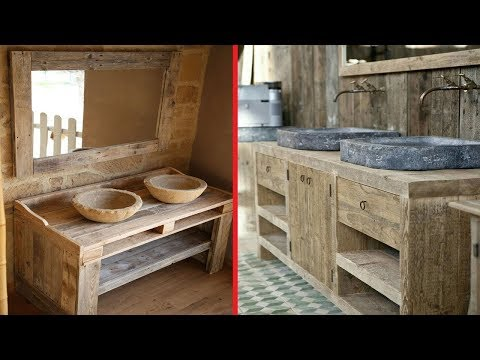 Stylish Distressed Wood Bathroom Vanity Design Ideas
