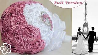 Свадебный букет Канзаши Мастер Класс / Полная версия ✄ Kulikova Anastasia