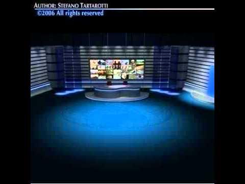 3d model tv news studio youtube. Black Bedroom Furniture Sets. Home Design Ideas