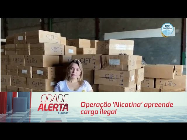 Operação 'Nicotina' apreende carga ilegal de cigarros no interior de AL