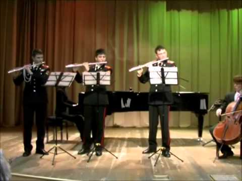 Pachelbel: Canon In D - 3 Flutes, Cello And Piano. (МВМУ)