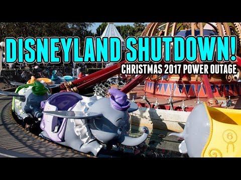Disneyland Shutdown! Crazy Christmas Power Outage - 2017 Christmas Peak Season!