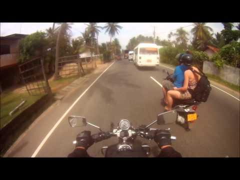Sri Lanka Motorbike Mirissa to Galle.wmv