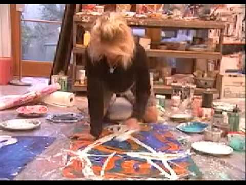 Portrait of World Renowned (Expressionist Artist) Amadea Bailey)....In Her Studio