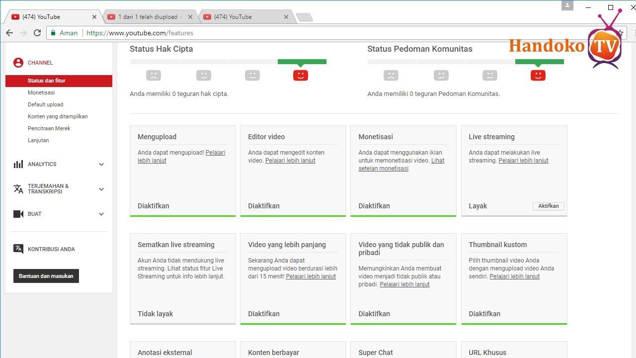 cara mengaktifkan iklan video youtube ponsel tv sudah di terima google adsense tutorial lengkap