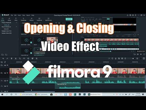 Opening and Closing Video Effect| Filmora 9 Tutorial