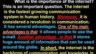 Writing Paragraph 4 The Internet ثانوية عامة كتابة موضوع عن Youtube