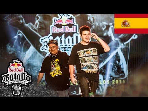 Arkano y Sony - Actuación Final Nacional Valencia 2016 - Red Bull Batalla de los Gallos