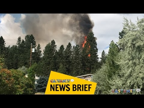 Brush fire gets close to homes near Penticton