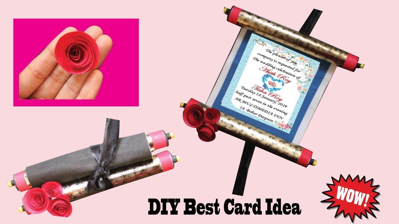 DIY Easy Scrolling Invitation Card Idea | Shahee Card ...