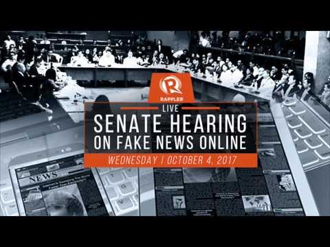 Senate Hearing on Fake News (Part 1 of 2)