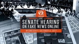 Part 1 Senate Hearing on Fake News 4 October 2017