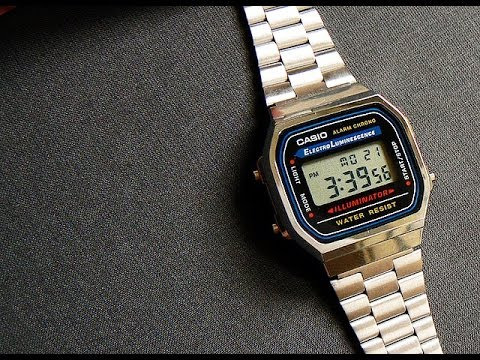 Casio a168w 1 electro luminescence youtube for Luminescence watches