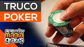 Truco con fichas de poker , aprender magia gratis