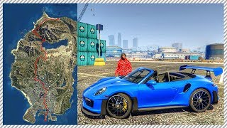 GTA 5 REAL LIFE MOD #46 - DRIVING CHALLENGE! HOW LONG WILL THIS TAKE ME? + FUEL MOD