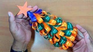 How to Make Christmas Tree with Ribbon | DIY Christmas crafts