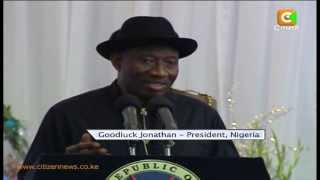 Nigerian President Goodluck Jonathan Leaves After 3 Day Visit