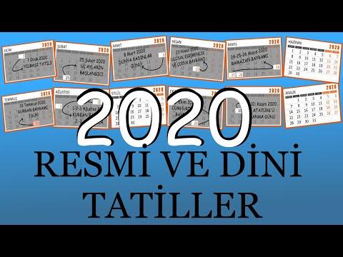 2020 Resmi ve Dini Tatiller 2020 Yılının Tatil Günleri