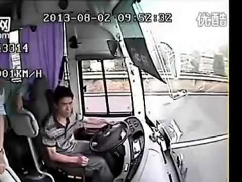 CCTV Incredible Bus Accident (crashes)