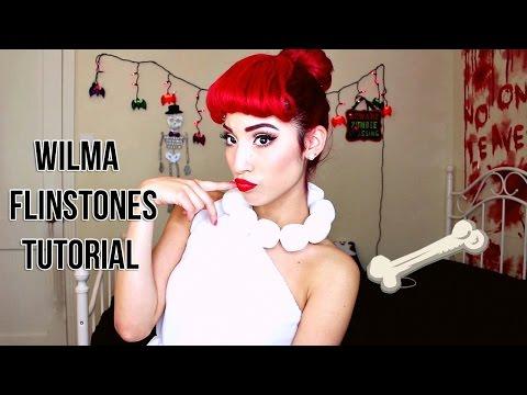 Wilma Flinstones Makeup Hair Tutorial
