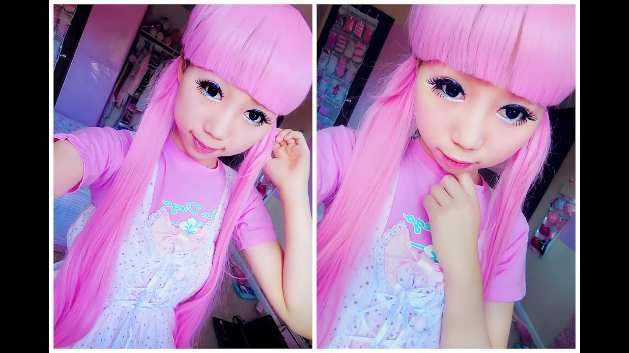 How To Look Like A Doll Kawaii Enlarge Doll Eye Makeup Tutorial