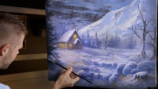 Evening at the Cabin   Landscape Painting