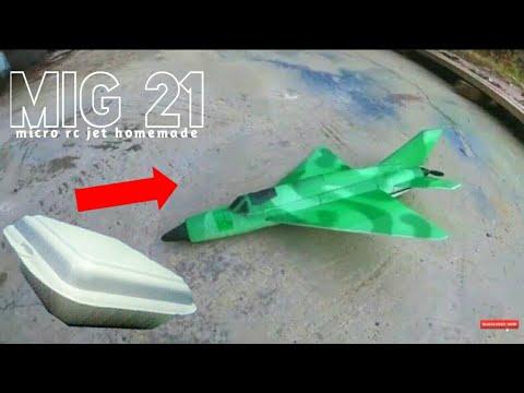Membuat Pesawat RC micro jet MIG 21 rc plane homemade