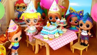 LOL Surprise Birthday Party for  Baby Goldie Doll - Barbie Lol Family
