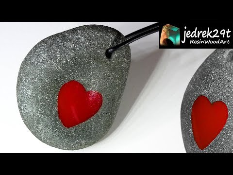 DIY. Red HEART 💖 in Stone / ART  RESIN