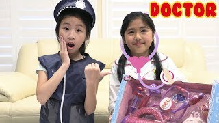 Pretend Play Police with the HELP of a DOCTOR