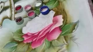 Pintando a Jarra com Rosas – Parte 3 – Pintura em tecido