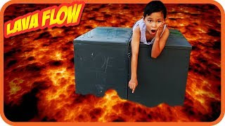 LAVA FLOW CHALLENGE, Floor is Lava, Family Fun Kids Pretend Playtime - TigerBox HD