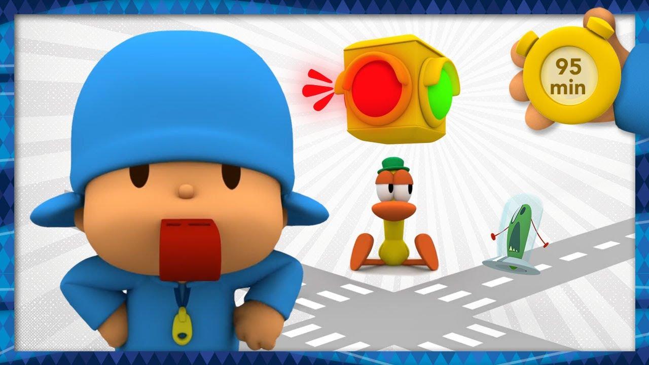 🚦 POCOYO & NINA - Road Safety: Traffic Lights [95 min] ANIMATED CARTOON for Children |FULL episodes